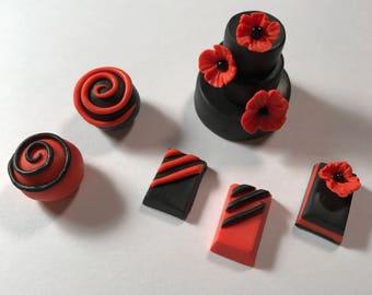 Polymer Clay miniature Poppy Truffles
