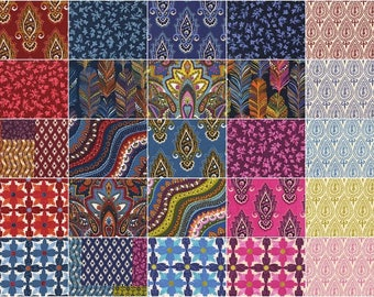 Indian Summer Charm Pack by Michael Miller Fabrics for Michael Miller