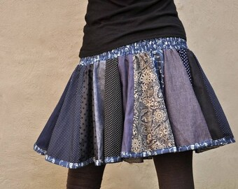 Patchwork Skirt in Jeanslook