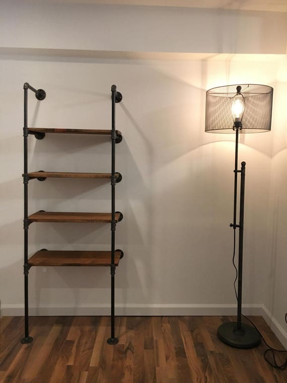 Wall Unit 24 Industrial Pipe And Rustic Wood Shelf Unit