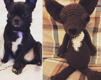 pet replica custom made crochet animals.