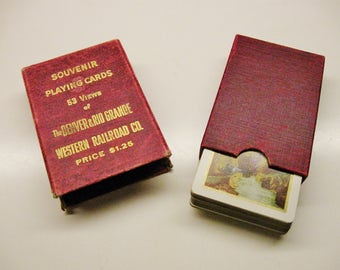RAILROAD PLAYING CARDS Souvenir Denver & Rio Grande Western 53 Different Views Historical