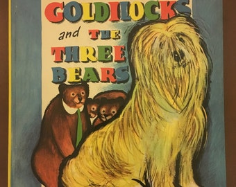 Vintage 1959 Goldilocks and The Three Bears Children's Book