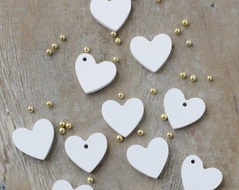 25 50 75 100 Heart Shaped Scented Lavender  Gessetti-Wedding-Favor-Place Holder Baptism-Christening-Baby Shower-Talc-Gift-Favour-Gift Tag