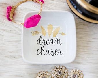 Motivational Gift - Dreamer Gift - Girl Boss Gift - Boss Gift - Graduation Gift - Ring Dish - Custom Gift - Jewelry Dish - Job Promotion