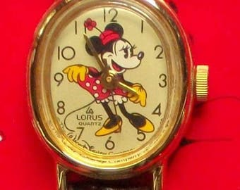 Disney Lorus Ladies Minnie Mouse Watch! Out of Production. HTF!