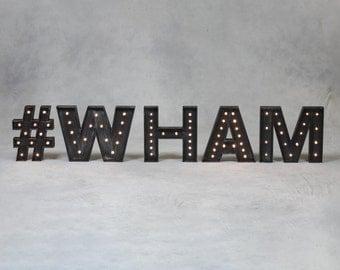 Large Carnival Marquee Letter Lights