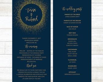 Wedding Program Template, Wedding Program Printable, Custom Wedding Program, Editable Wedding Program, Ceremony Printable Template