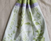 Crochet Kitchen Towel,Herb Kitchen Towel,Green Kitchen,Cotton Kitchen Towel,Kitchen Towel,Wedding Gift,Crochet Gift,ready to ship
