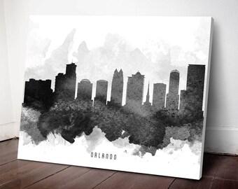 Orlando Skyline Canvas Print, Orlando Art, Orlando Cityscape, Orlando Art Print, Home Decor, Gift Idea, USFLOR11C