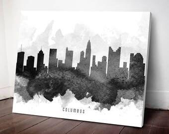Columbus Skyline Canvas Print, Columbus Art Print, Columbus Cityscape, Home Decor, Gift Idea, USOHCO11C