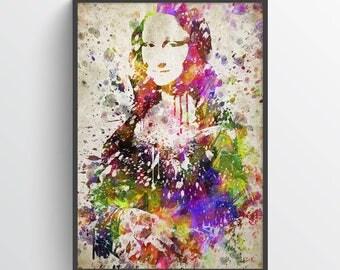 Mona Lisa In Color Poster, Mona Lisa print, Mona Lisa Art, Home Decor, Gift Idea