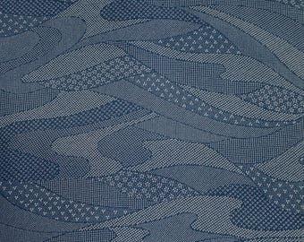 Vintage Japanese Silk Kimono Fabric Kiredori Blossom