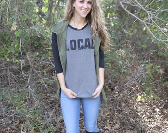 Local Baseball T Shirt, raglan, womens T Shirt, graphic T Shirt, vintage T shirt, T shirt gift, Gift for her, Baseball tee, raglan tee