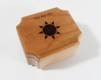 Personalized You Are My Sunshine Music Box Add Name, Hand Made Small Wooden Music Box, You Are My Sunshine Music Box, Personalized Custom