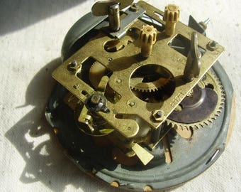 Vintage Brass Clock Mechanism
