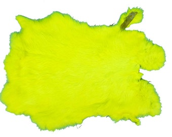 Better Grade Dyed Fluorescent Yellow Rabbit Pelt
