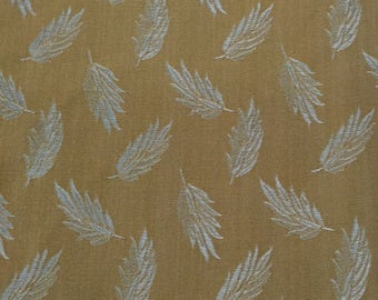 Blue Leaf Upholstery Fabric By The Yard