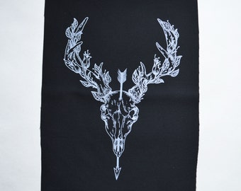 Deer Skull Back Patch