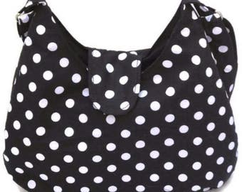 Polka Dot Purse - Polka Dot Hobo Bag - Everyday Bag - Cross Body Bag - Sling Bag - Cross Body Hobo Bag - Crossbody Bag - Cross Body Purse