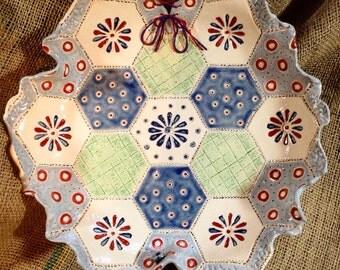 MADE TO ORDER Handmade Ceramic Patchwork Patterned Bowl