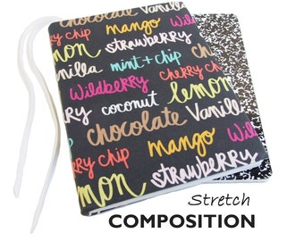 Bullet Journal Notebook, Composition Notebook Cover in ICE CREAM FLAVORS, Bullet Journal Accessories, Bullet Journal Cover, Composition Book