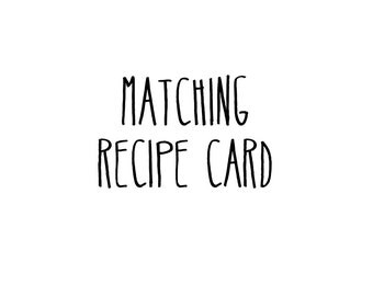 Matching Recipe Card