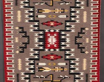 Native American Hand Made Vintage Navajo Wool Textile, by Lelia Tsosie, Chinle, AZ, #1093