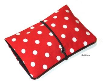 Tobacco bag / pouch / Leno bag * rockabilly red *.