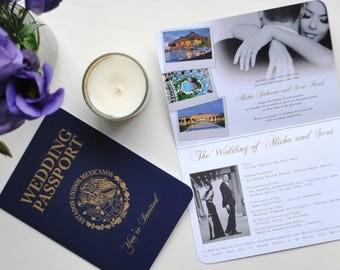 Realistic Mexican Wedding Passport Invitation
