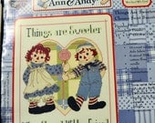 "Counted Cross Stitch Pattern ""Raggedy Ann and Andy Things Are Sweeter""  by Gloria & Pat Cross Stitch Patterns Fiber Art"