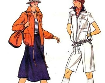 Vogue 9759 Dandy Out and About Jacket, Shorts & Skirt / 1980's SZ14 UNCUT