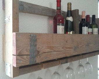 Scaffold wood wine rack