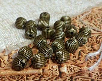 10pcs ethnic Moroccan bronze beads