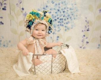 5 Acre Goodie box!! Photography props,floral bonnet,sitter,newborn,tiebacks,grab bag