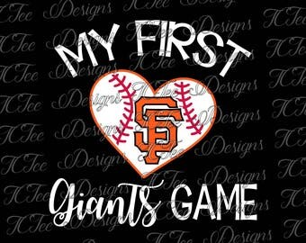 My First Giants Game - San Francisco Giants Baseball - SVG Design Download - Vector Cut File