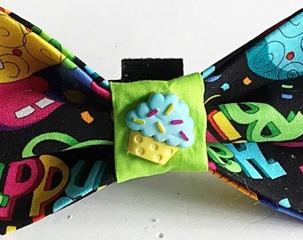 Birthday Bow Tie for Male Dogs & Cats
