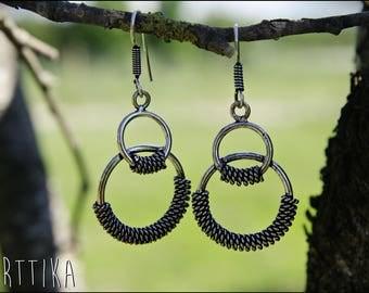 Outstanding long silver. Tribal jewelry.