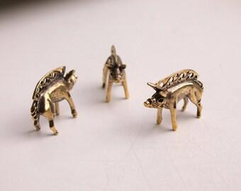 Celtic boar / silver celtic pendant / boar figurine