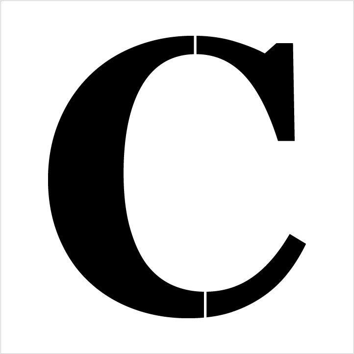 Classic Serif Letter Stencil - C - Select Size - STCL1716 - by StudioR12