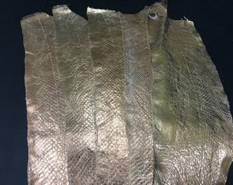 Salmon Leather - Copper metallic