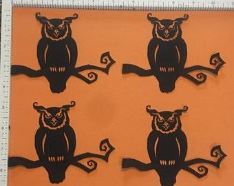 Cricut halloween die cut 4 black owl die cuts