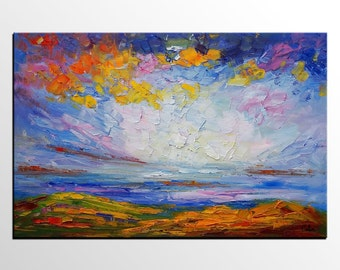 Palette Knife Art, Oil Painting, Large Painting, Wall Art, Canvas Art, Abstract Art, Original Painting, Abstract Art, Landscape Painting