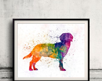 Tyrolean Hound in watercolor 01 - Fine Art Print Poster Decor Home Watercolor Illustration Dog - SKU 2538