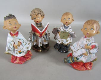 Set of 4 Fontanini 7 inch carolers 1986