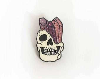 Sparkle Skull Pin