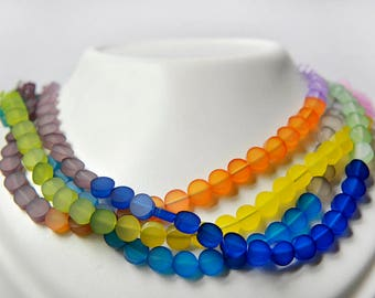 Necklace multicolor Plexiglas, can be worn in different ways, lightness