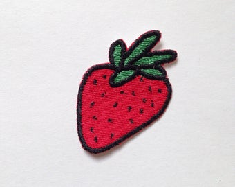 Strawberry Iron-on Patch