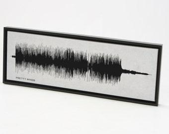 Pretty Wings - Sound Wave Art Print, Music Canvas