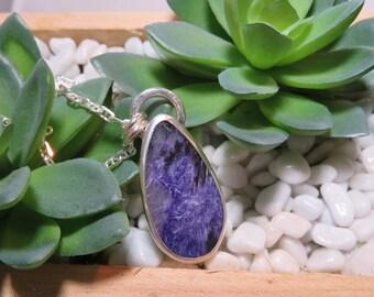 Charoite (Purple) Sterling Pendant